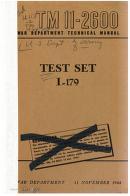 United States. War Department - TM 11-2600 Test Set I-179, 1944