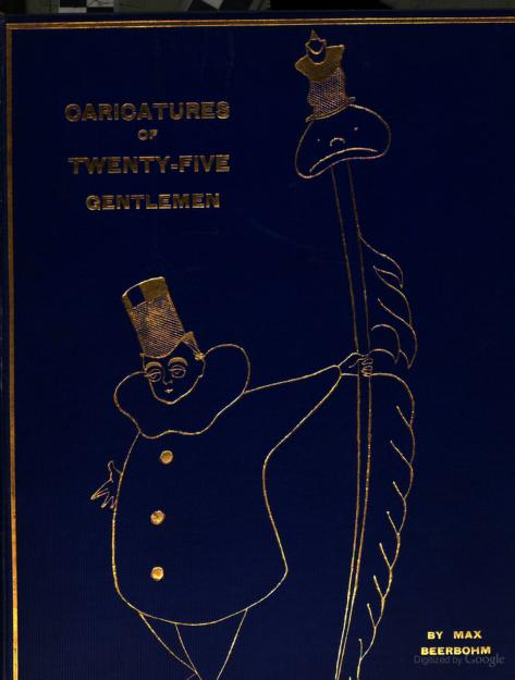 Caricatures of twenty-five gentlemen by Sir Max Beerbohm